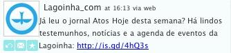 Achei muito interessante esse jornal que chegou da Lagoinha.com no meu twitter e publiquei pra quem quiser ver direto da página deles. blz? Só clicar na imagem.